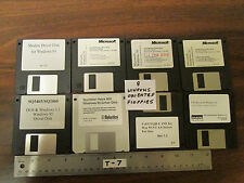 Set of 8 Microsoft Windows Oriented 3.5-Inch Floppy Disks