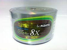 50 RIDATA Brand 8X Logo DVD-R DVDR Blank Disc Media 4.7GB 120Min