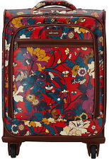 Sakroots Artist Circle Carry On Bag Spinner Luggage - Crimson Flower Power