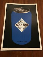 Tabasco Can print by DEATH NYC Ltd Ed Pop Art like Warhol Faile Obey MBW Whatson
