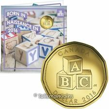 Canada 2016 New Baby 5 Coin Mint Gift Set with $1 Building Blocks Loonie Dollar