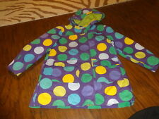 MINI BODEN 7-8 PURPLE GREEN YELLOW POLKA DOT JACKT GIRLS