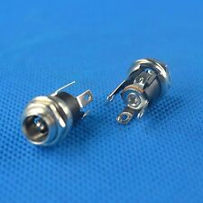 10pcs DC Power Supply Jack Socket Female Panel Mount Connector 5.5mm x 2.5mm