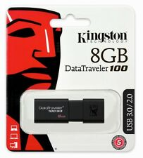 Kingston USB 3.0 DataTraveler DT100G3/8GB 8GB 8G USB3.0 USB3 Flash Pen Drive