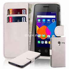 """New Leather Book Wallet Case Flip Cover For Alcatel Pixi 4 4"""" 3g 5"""" 3g 4g 6"""" 3g"""