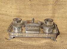 Georgian or Regency Silver Inkstand Encrier Standish Inkwell