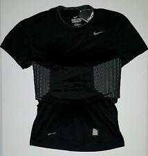 Nike Pro Combat Hyperstrong Rib Black Padded Football Shirt Men's3XL XXXL NWT