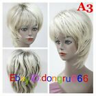 New Straight Hair Wigs Fashion Short Women's Wig (3 Color) + Free wig cap