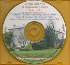 Colonel John Wise of England and Virginia - Genealogy