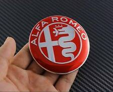 2PCS ALFA ROMEO 74mm Badge Emblem Sticker Decal Logo Giulietta Spider GT 147 Red