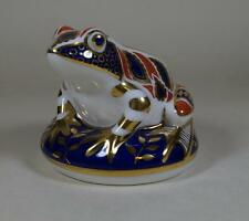Royal Crown Derby FROG Figure Paperwight with Gold Stopper
