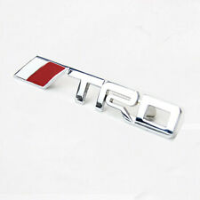 Car 3D Silver Metal TRD Logo Front Grille Emblem Badge Decal Sticker For Toyota