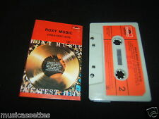 ROXY MUSIC GREATEST HITS NEW ZEALAND CASSETTE TAPE