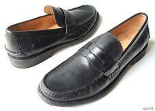 NIB mens FRYE 'Otis' black leather penny loafers shoes 7 - very comfortable