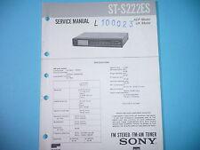 Service Manual-Anleitung für Sony ST-S222ES  ,ORIGINAL