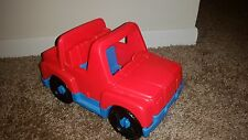 Vintage 1991 Playskool Blue Jeep Item Number 1503 SUV Dollhouse Car 1990s RARE