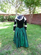 Princess Merida Brave Ice skating  or dance Costume  Green Medieval Dress S
