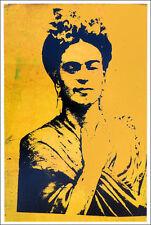 Bobby HILL Frida Kahlo Offset Litho Poster Print