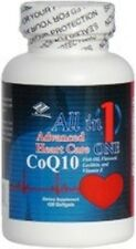 Advanced Heart Care w/ Coq10 Fish Oil EPA DHA Flaxseed Lecithin(120 Softgels)