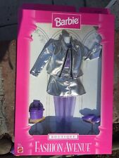 Barbie Fashion Avenue Boutique - Silver & Purple Skirt Suit & Accessories (1997)