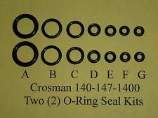 Crosman Model 140-147-1400 Two (2)  Complete O-Ring  Seal Kits