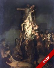JESUS DESCENT FROM THE CROSS PAINTING CHRISTIAN BIBLE HISTORY ART CANVAS PRINT