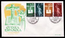 Äquatorialguinea-Golf Guinea 349-52 FDC, Katholische Missionare