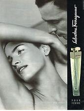 PUBLICITE ADVERTISING 025  1999  SALVATORE FERRAGAMO  parfum pour femme