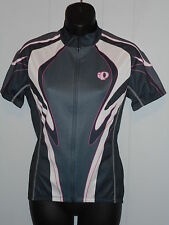 PEARL IZUMI ZIP FRONT S S CYCLE BIKE SKIN STRETCH ATHLETIC TOP M KANGA POCKET
