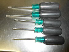 5 Pratt-Read Cushion Grip Torx Screwdriver Set  30,27,25,20, 15