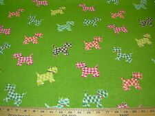 """~5 YDS~P KAUFMANN~""""SCOTTIE DOG""""~COTTON UPHOLSTERY FABRIC FOR LESS~"""