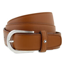 Montblanc Classic Collection Brown Saffiano Leather Belt 109758