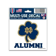 "Notre Dame Fighting Irish Alumni 3""x4"" Car Decal - Static Cling Auto Sticker"