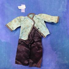 Vintage Antique 1950s-60s Bisque Doll Clothes M S Asian Pajama Set 2p CG84