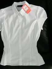 Bnwt BHS white cap sleeve shirt / blouse 14 years