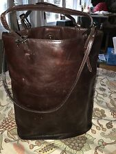 Vintage leather DNKY Purse espresso in color lined and gorgeous soft and buttery