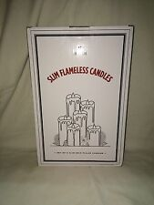 Lamplust Set Of 6 Slim Flame less Candles-assorted Sizes, Cream Color