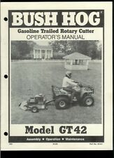Rare Original Factory Bush Hog GT 42 Gas Trailed Rotary Cutter Owner's Manual