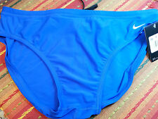 Nike Men's Blue Bikini Swimsuit, white liner -nylon/spandex Sz:38