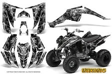 YAMAHA RAPTOR 350 GRAPHICS KIT CREATORX DECALS STICKERS INFERNO SILVER