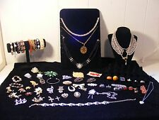 Lot Of Vintage Costume Jewelry 63 Pieces ~ Bracelets ~ Necklaces ~ Rings