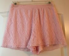 Abercrombie Kids Girls Soft Pink Floral Lace Shorts Size Medium