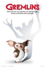 """GREMLINS MOVIE POSTER 24"""" X 36""""  NEVER FEED THEM AFTER MIDNIGHT"""