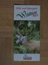 Sehr gut erhaltenes Prospekt vom Wild- und Naturpark Wildbichl Tirol Österreich