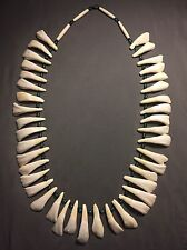 buffalo tooth necklace Native American made Mountain Man rendezvous bison teeth