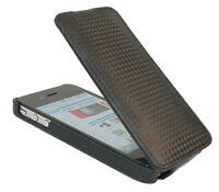 PU Leather Executive Vertical Flip Wallet Case Cover For Apple iPhone 4 4S
