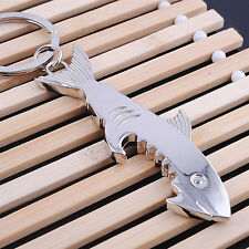 1x Metal Big Shark Beer Bottle Opener Keychain Keyring Keyfob Creative Gift CJ