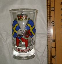 Sweden Short Glass Souvenir gift 1 only, new