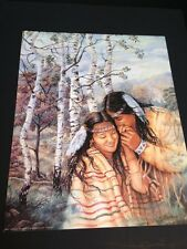 """Indian Couple In Aspen Trees Large 16"""" X 20"""" Picture Print New In Lithograph"""