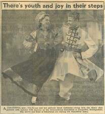 1953 Vita Kruze And Her Partner Ivars Gefimous Latvian Folk Dances Eisteddfod
